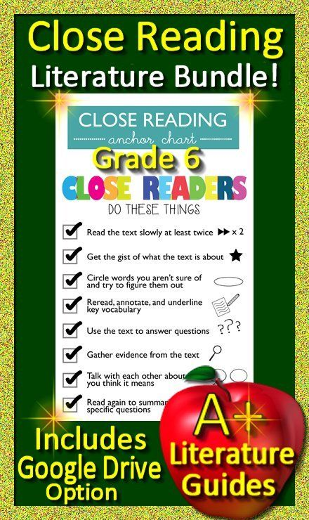 Grade 6 Close Reading Literature Passages And Question Sets
