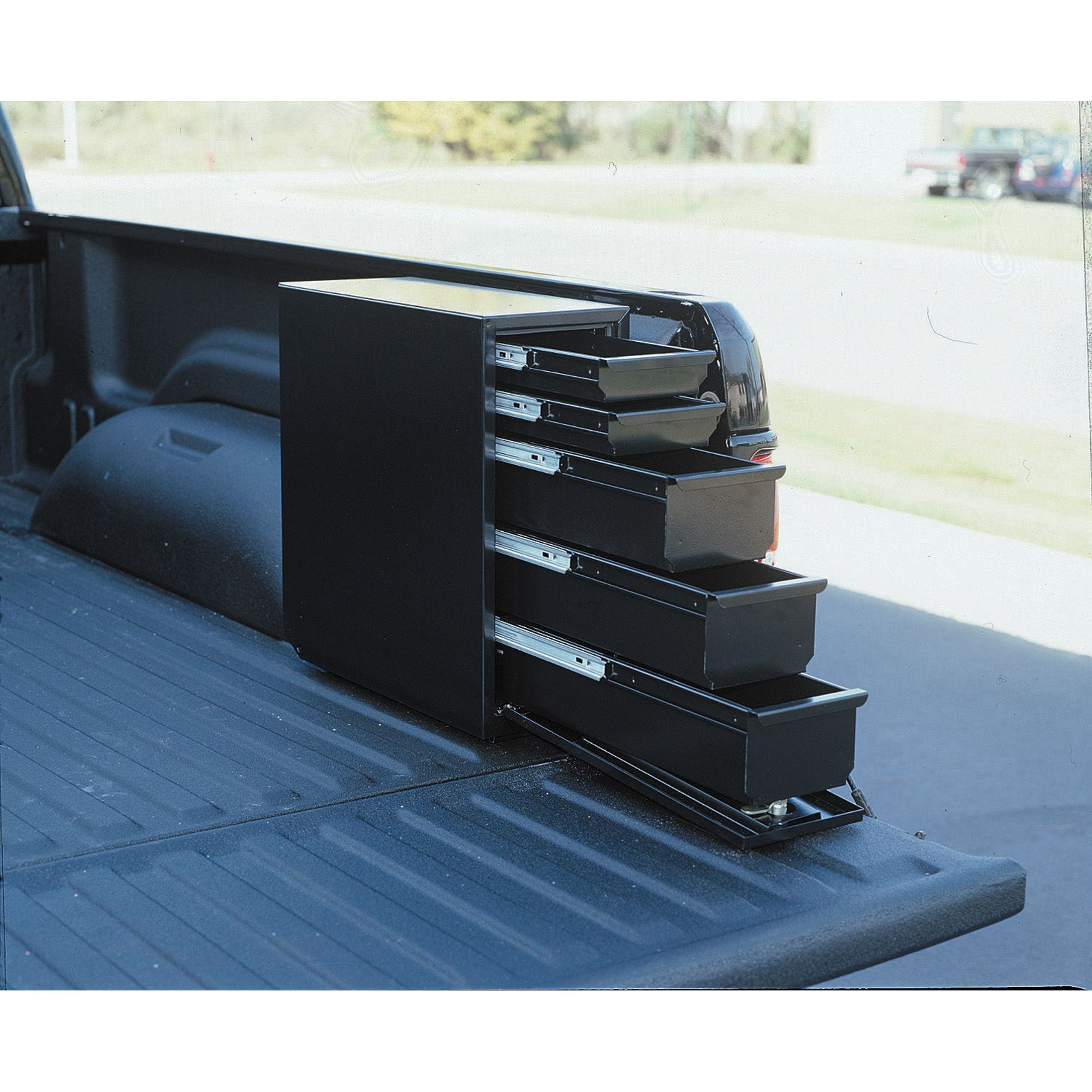Truck bed side tool box Camper awnings, Truck storage
