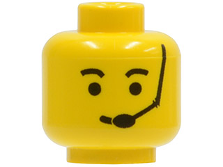 d4ad08aa0 16 sets Yellow BrickLink - Part 3626bp06 : Lego Minifig, Head Male Eyebrows  and Headset Pattern - Blocked Open Stud [Minifig, Head] - BrickLink  Reference ...