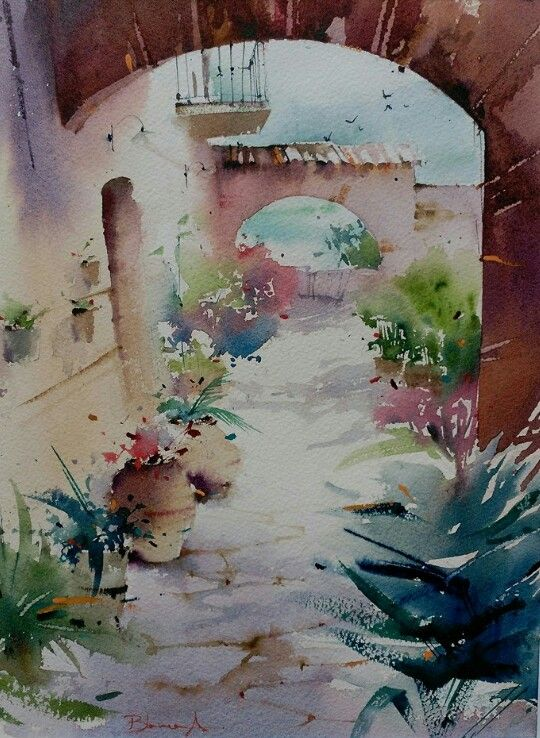 Pin By Svetlana Smirnova On Akvarel Watercolor Landscape