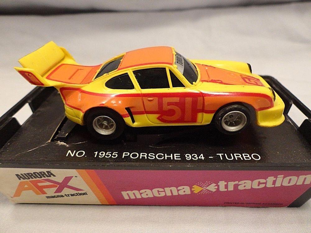 AFX Porsche 934 Turbo #51 Vintage HO Slot Car Aurora