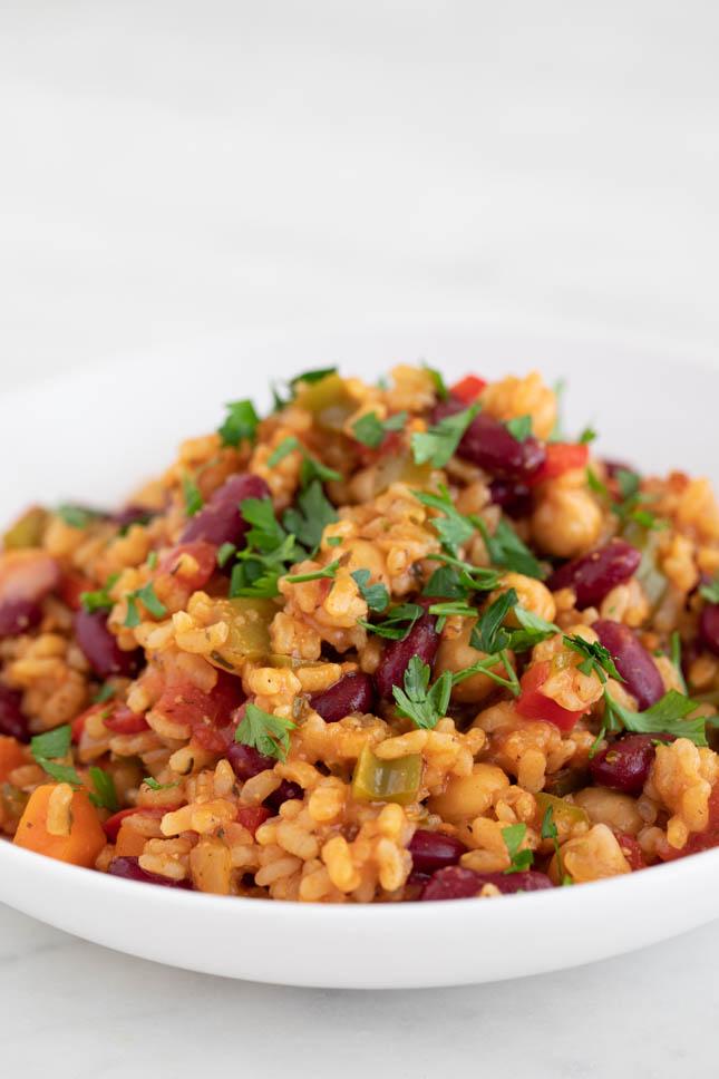 Arroz Jambalaya Vegano Recipe Vegan Jambalaya Easy Rice Recipes Easy Rice Recipes Vegetarian