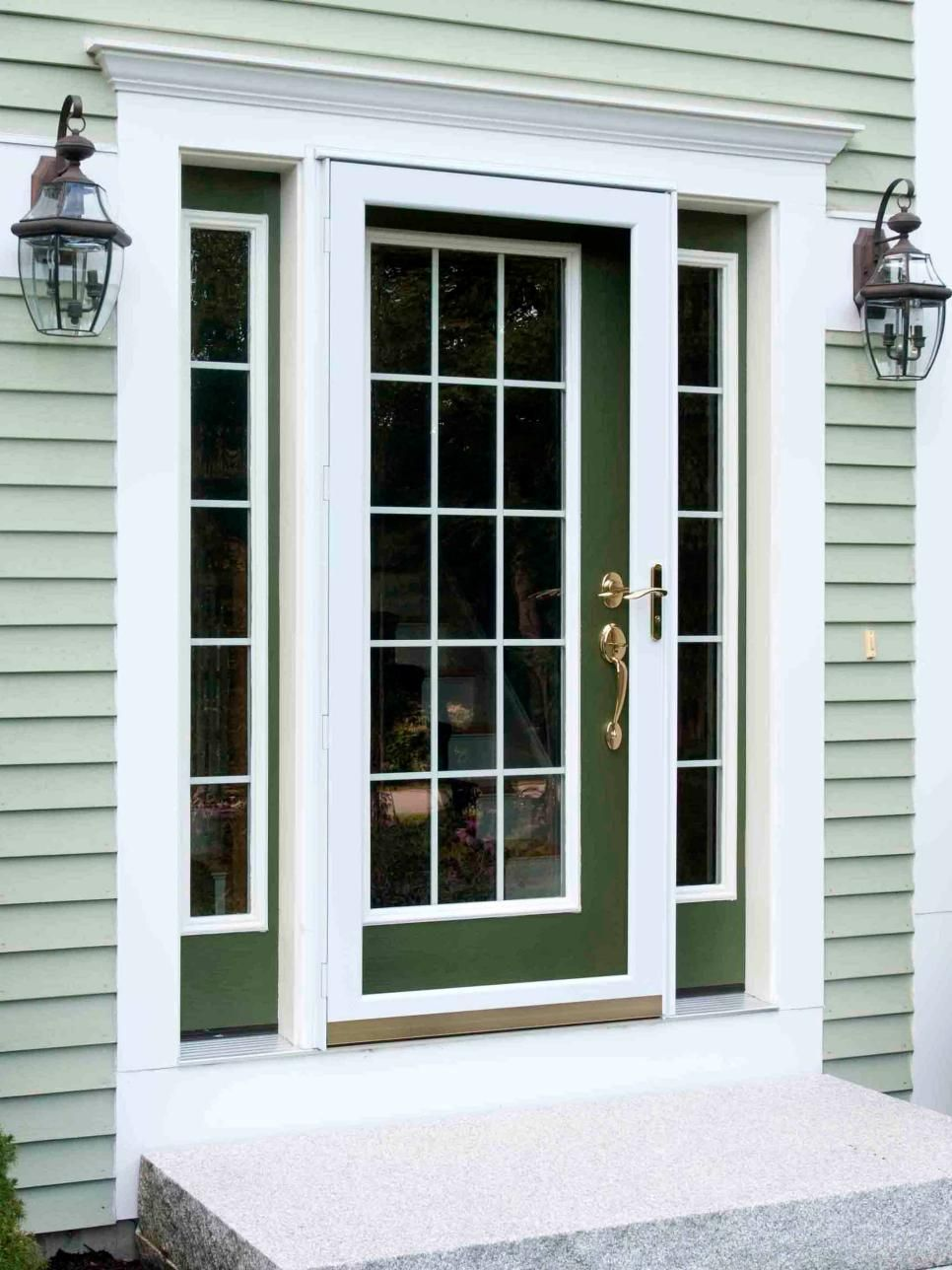 Popular Colors To Paint An Entry Door Curb Appeal Green Siding