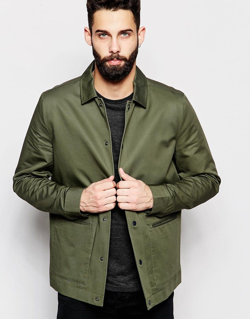 River Island Lightweight Coach Jacket In Khaki | Another FW ...