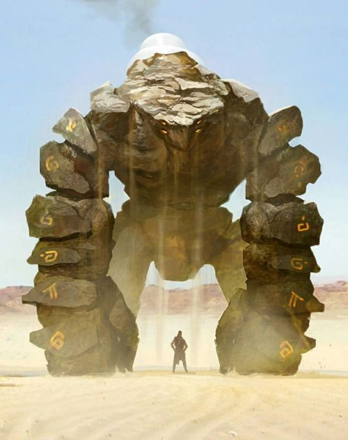 Sand Golem by Leonid Enin