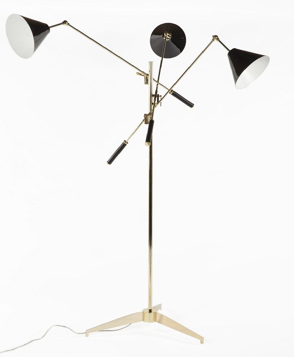 Monza Triennale Floor Lamp - Three Arm Gold http://www ...