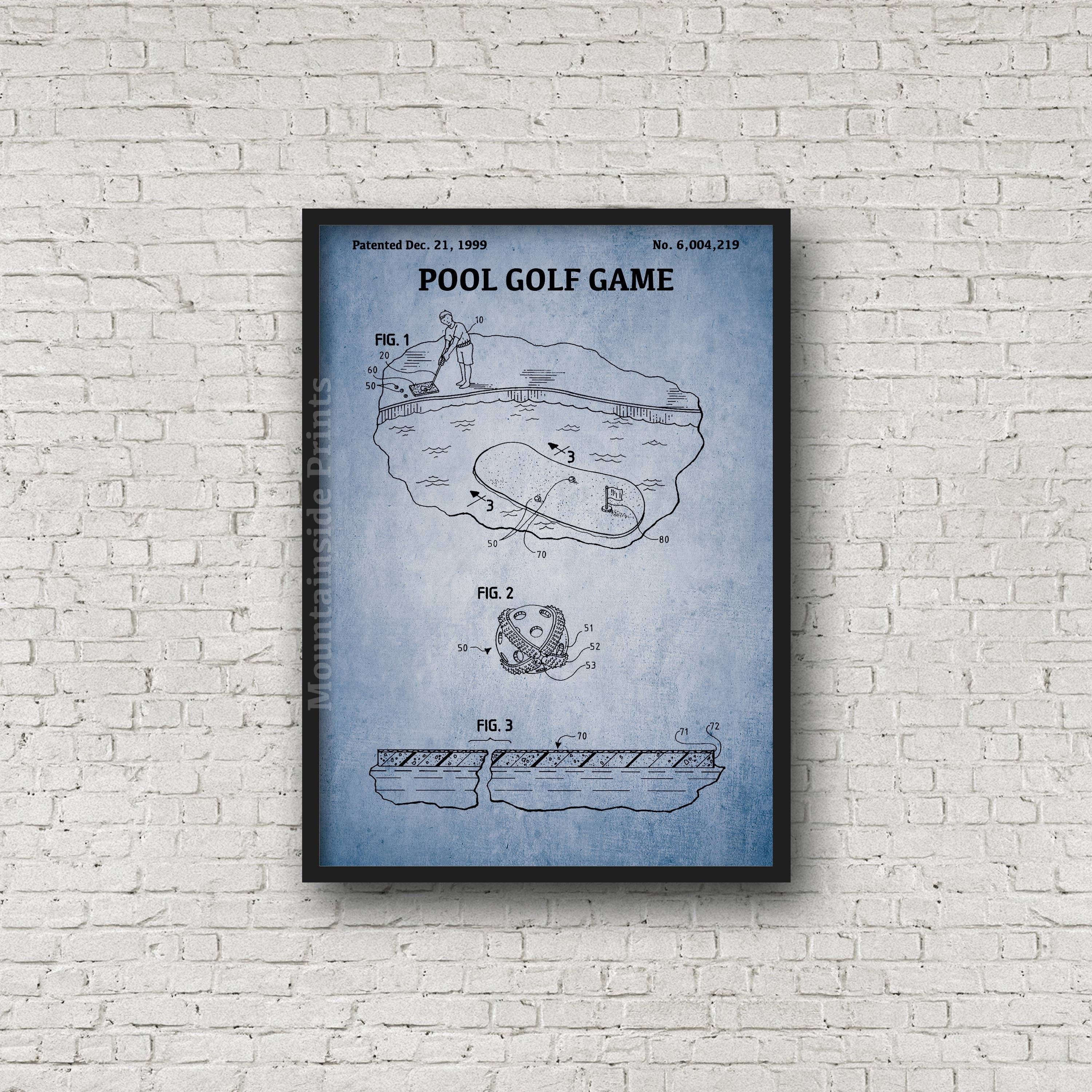 Pool golf game patent print pool golf game patent poster pool golf game patent print pool golf game patent poster blueprint art golfing gift blueprint poster pool golf patent art malvernweather Image collections