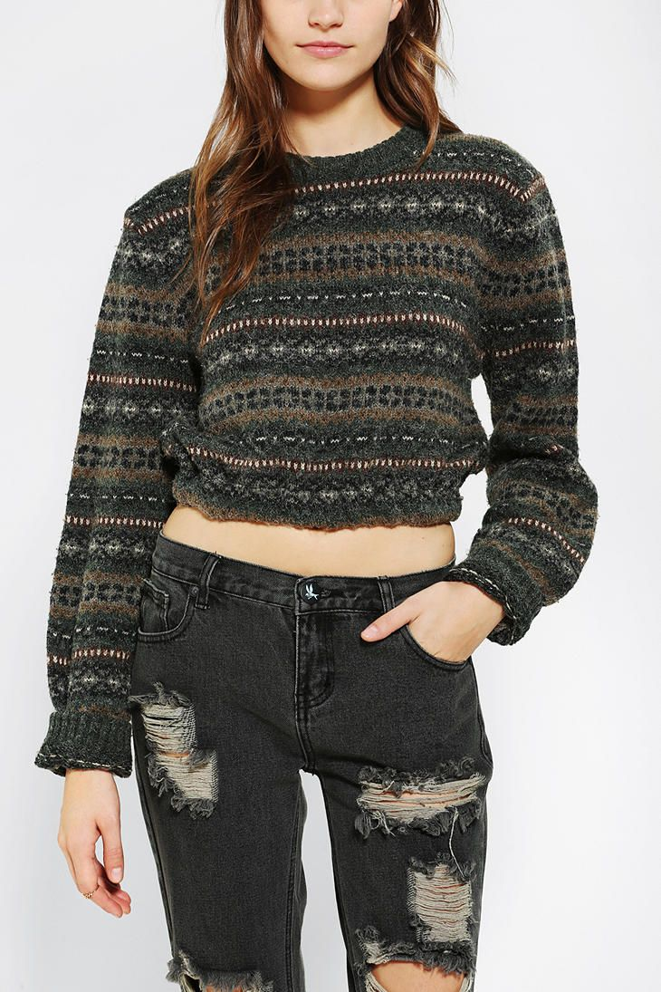 Urban Renewal Cropped Fair Isle Sweater | Love the weather out ...