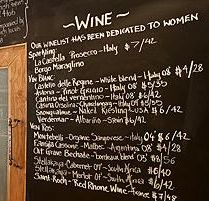 Love idea of a big chalk board behind the bar, easy to change, adds personality