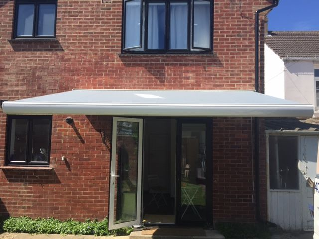 This Is A Kenley Full Cassette Patio Awning Made In The Uk By Deans Blinds Awnings Patio Awning Patio Awning