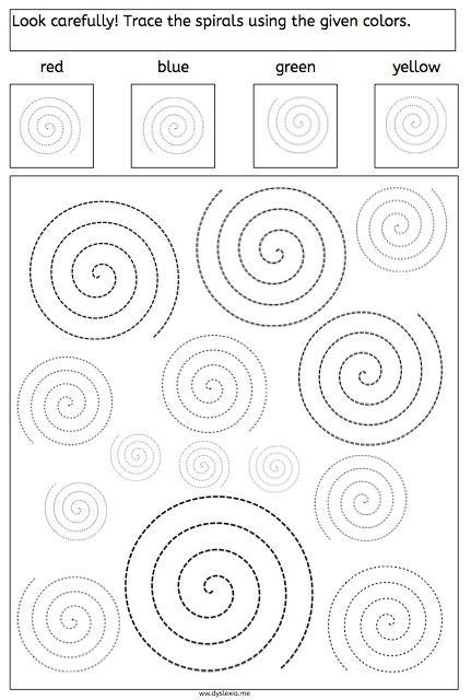 Spirals - Tracing and Recognizing - American Dyslexia Association - octagon graph paper