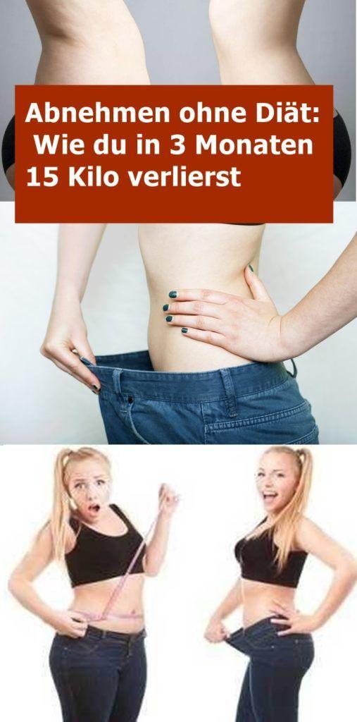 3-monatige Diät, um 15 Kilo zu verlieren