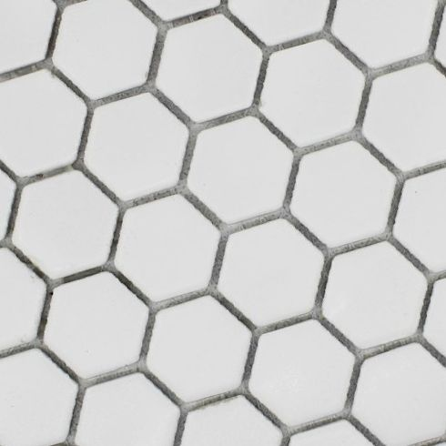 Pas Cher Blanc Sol Hexagonal Modeles De Tuiles En Ceramique
