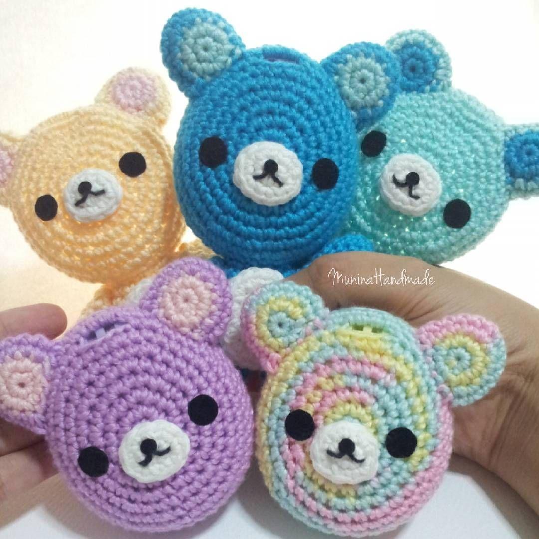 Tamagotchi Crochet Cover, Bear Face Amigurumis