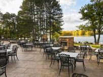 What could be better than enjoying panfried walleye on the patio at Paradise Landing??