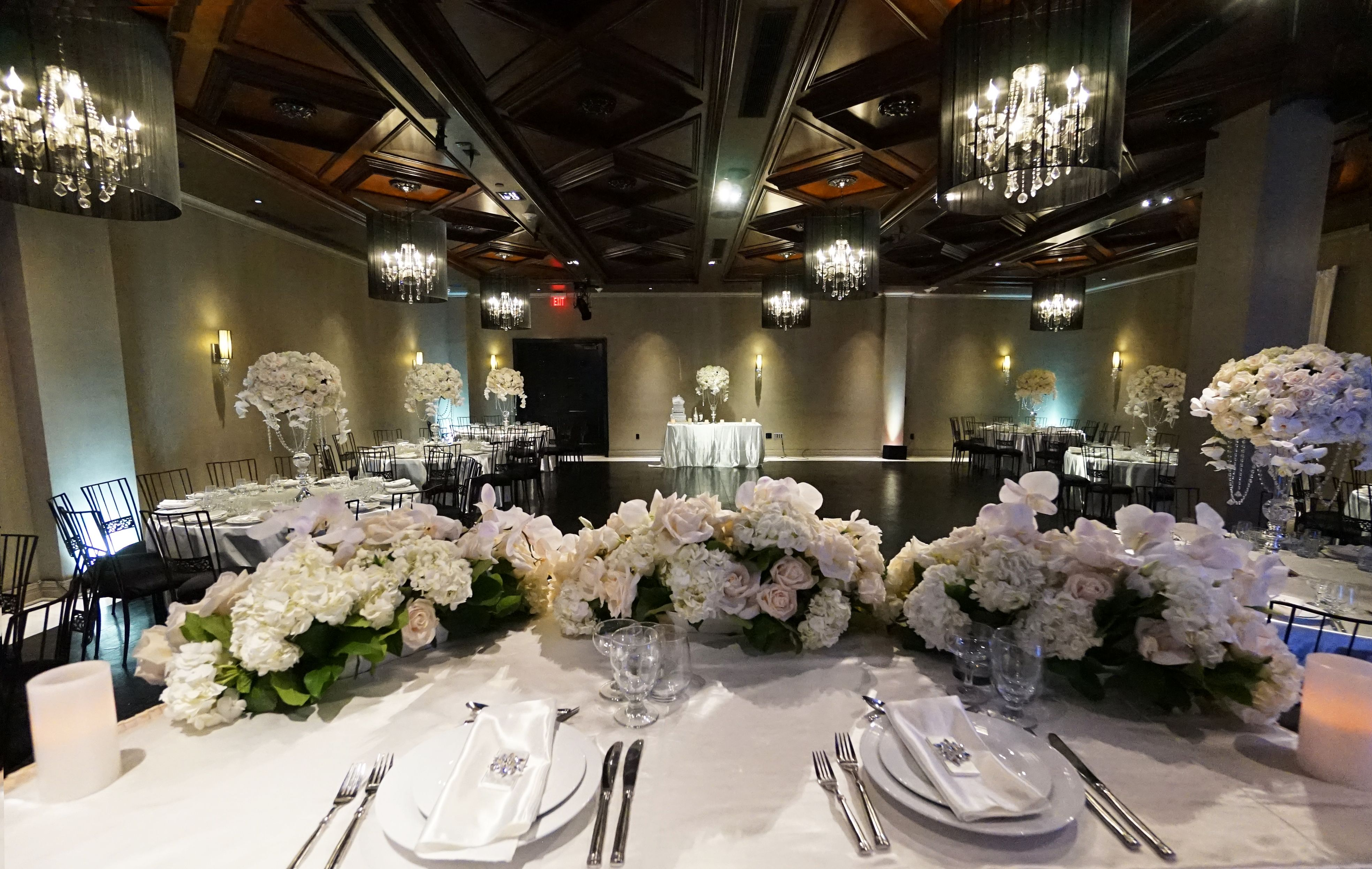 Wedding Setup In The Ella Ballroom At Noor Pasadenas Premier Venue