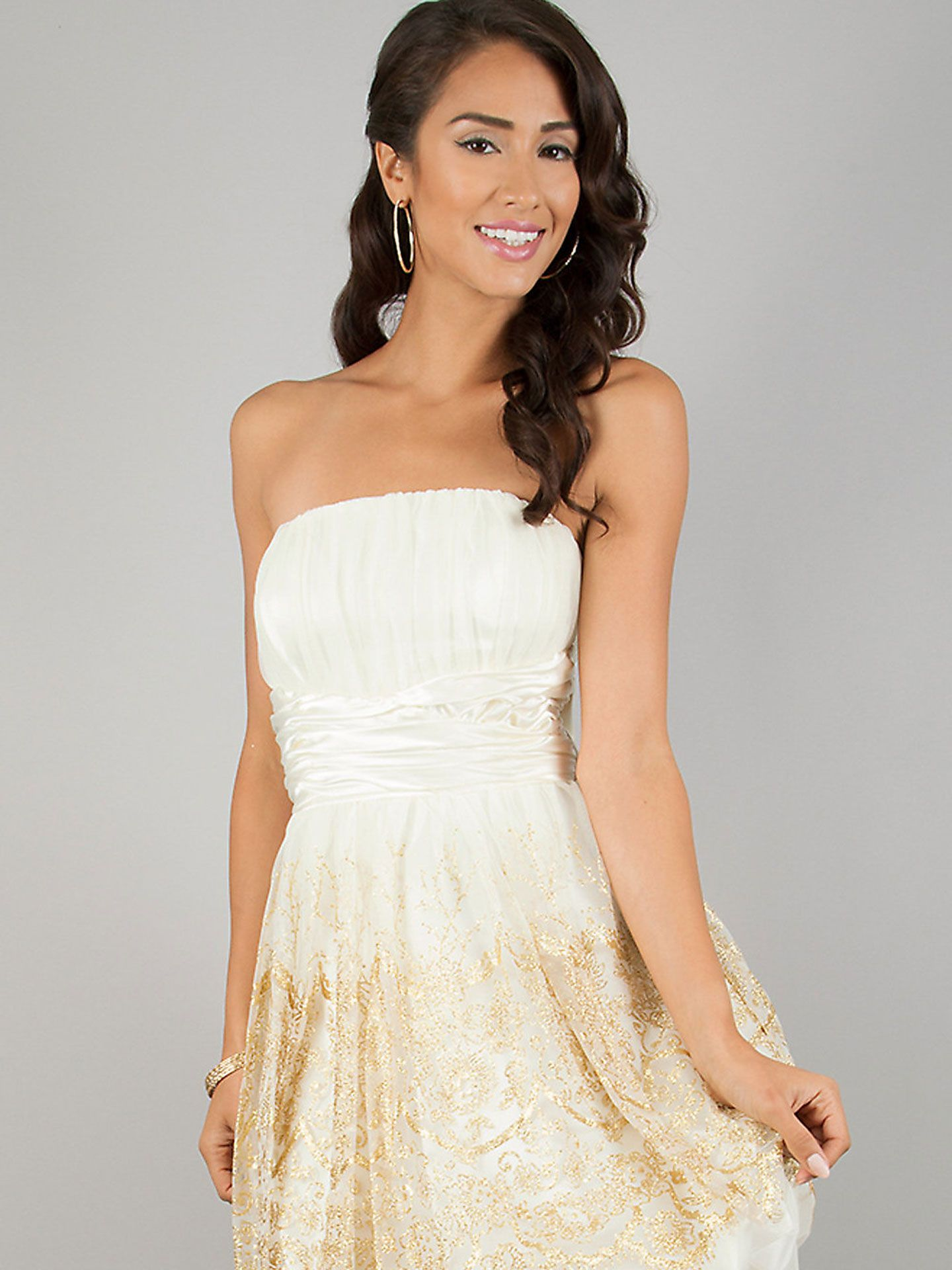 17 Adorable Prom Dresses Under $50 | Ivory dresses, Gold glitter and ...