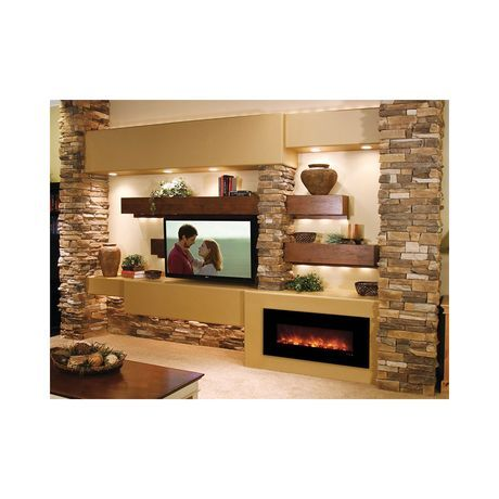 Modern Flames Builder Series Fantastic Flame 43 Inch No Heat Electric Fireplace On Off Only Ff43 Bilv Living Room Tv Wall Modern Flames Fireplace Design