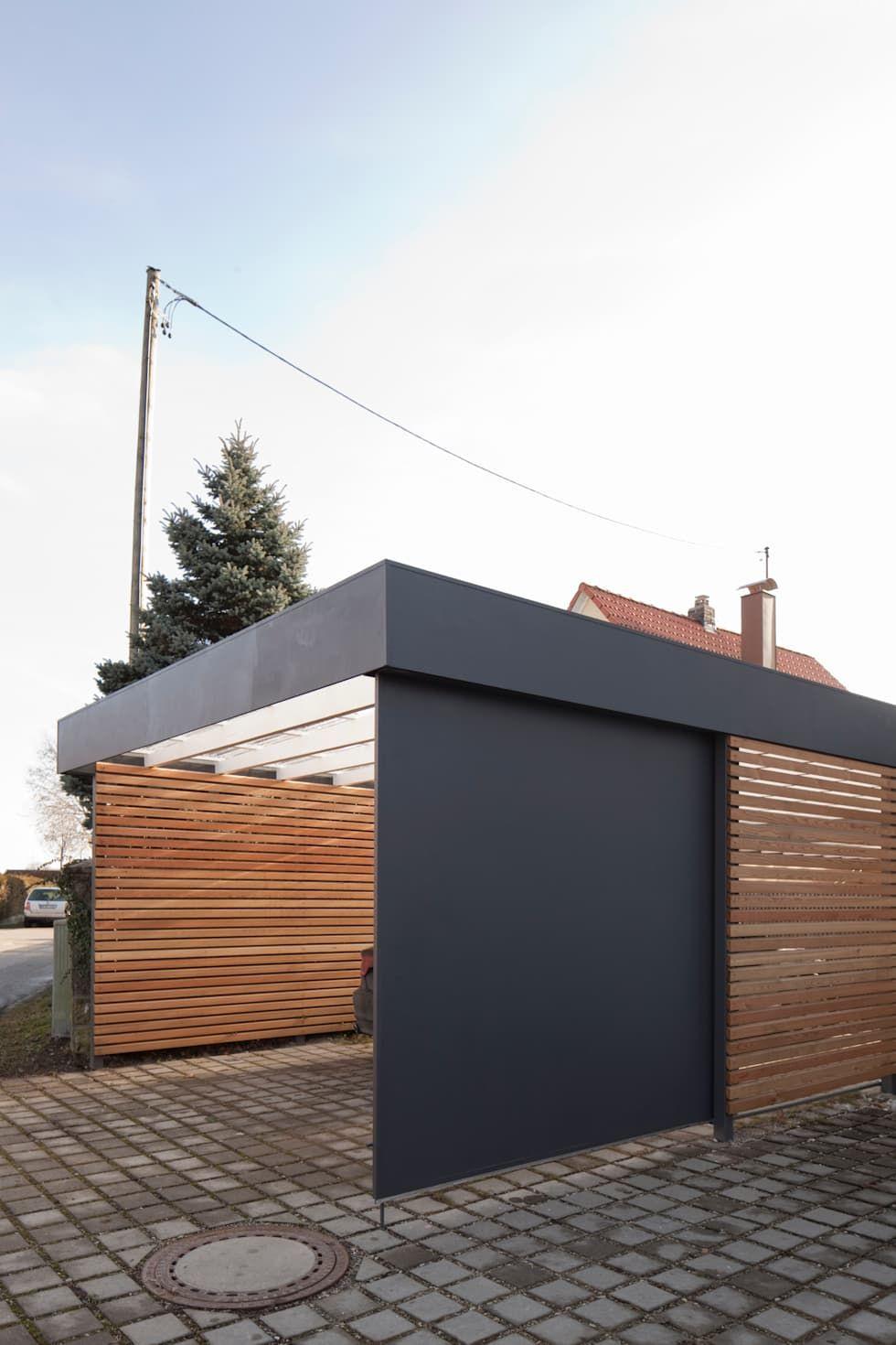Carport Moderne Garagen Schuppen Von Architekt Armin Hagele Modern Homify Moderne Garage Carport Modern Garage Dekorieren