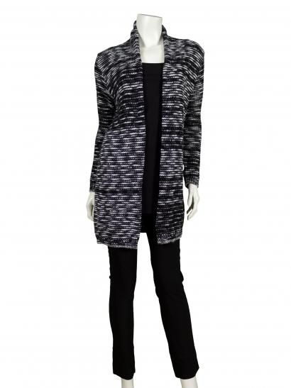 reputable site 02bc6 fb936 Long Strickjacke, schwarz meliert | Strickjacken & Cardigans ...