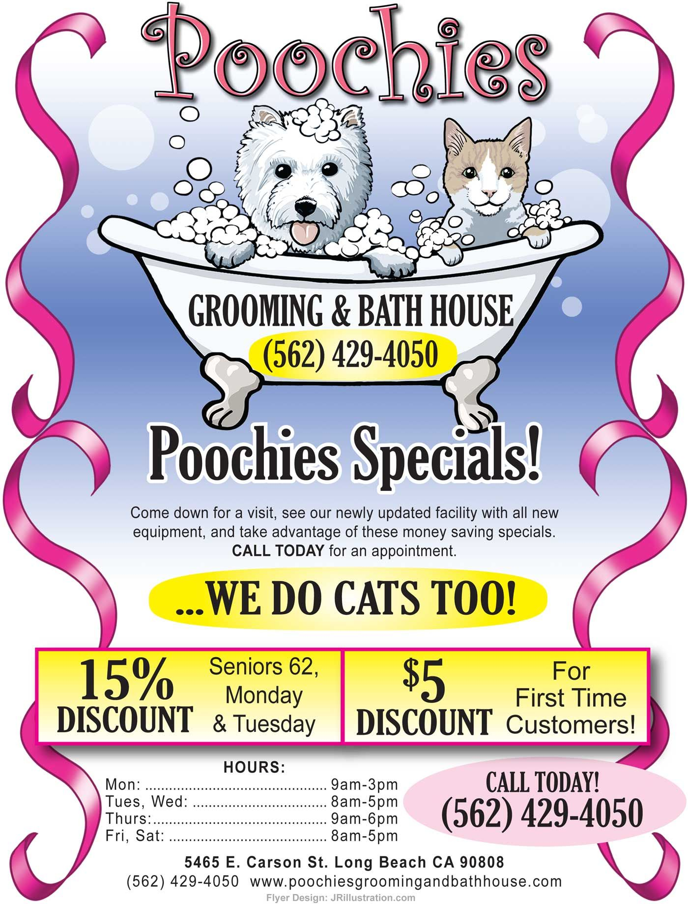 Grand Opening Pet Groomers Flyers Grooming And Bath House In Long Beach California Dog And Cat Grooming Dog Grooming Salons Dog Grooming Business Grooming