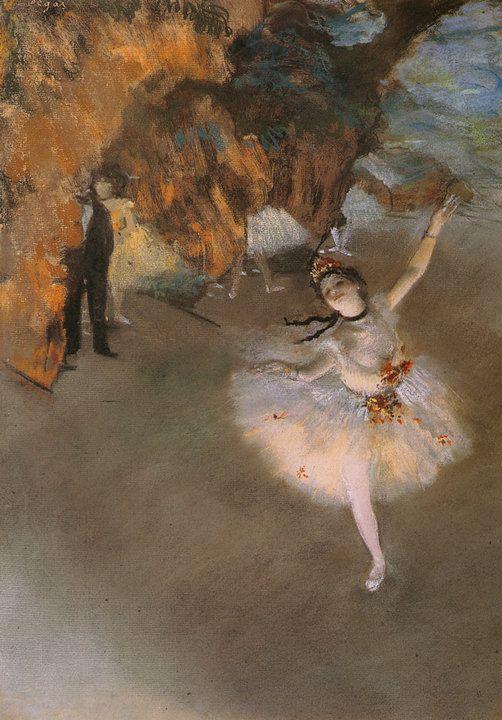 L'Étoile o la Danseuse Sur Scène (1878)  Edgar Degas (Francias,1834-1917) Impresionismo