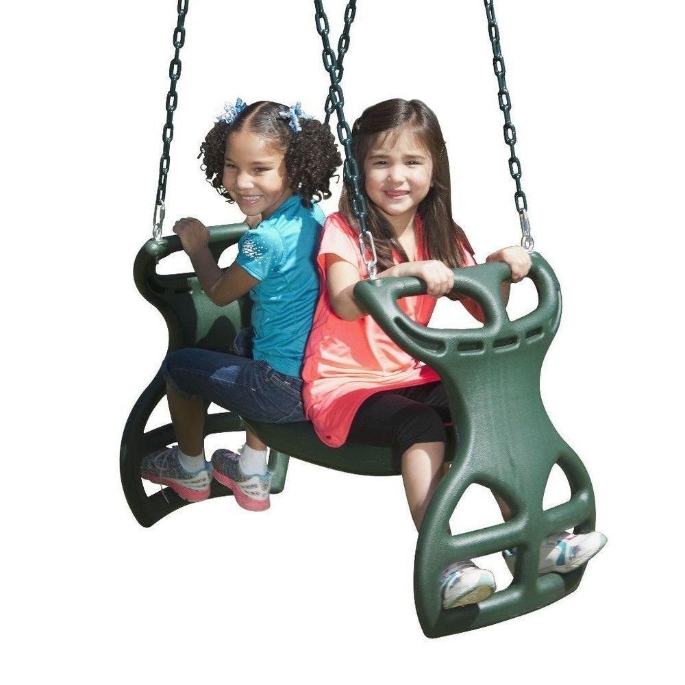 Dual Ride Glider This 2 Person Swing Set Outdoor Play Outdoor