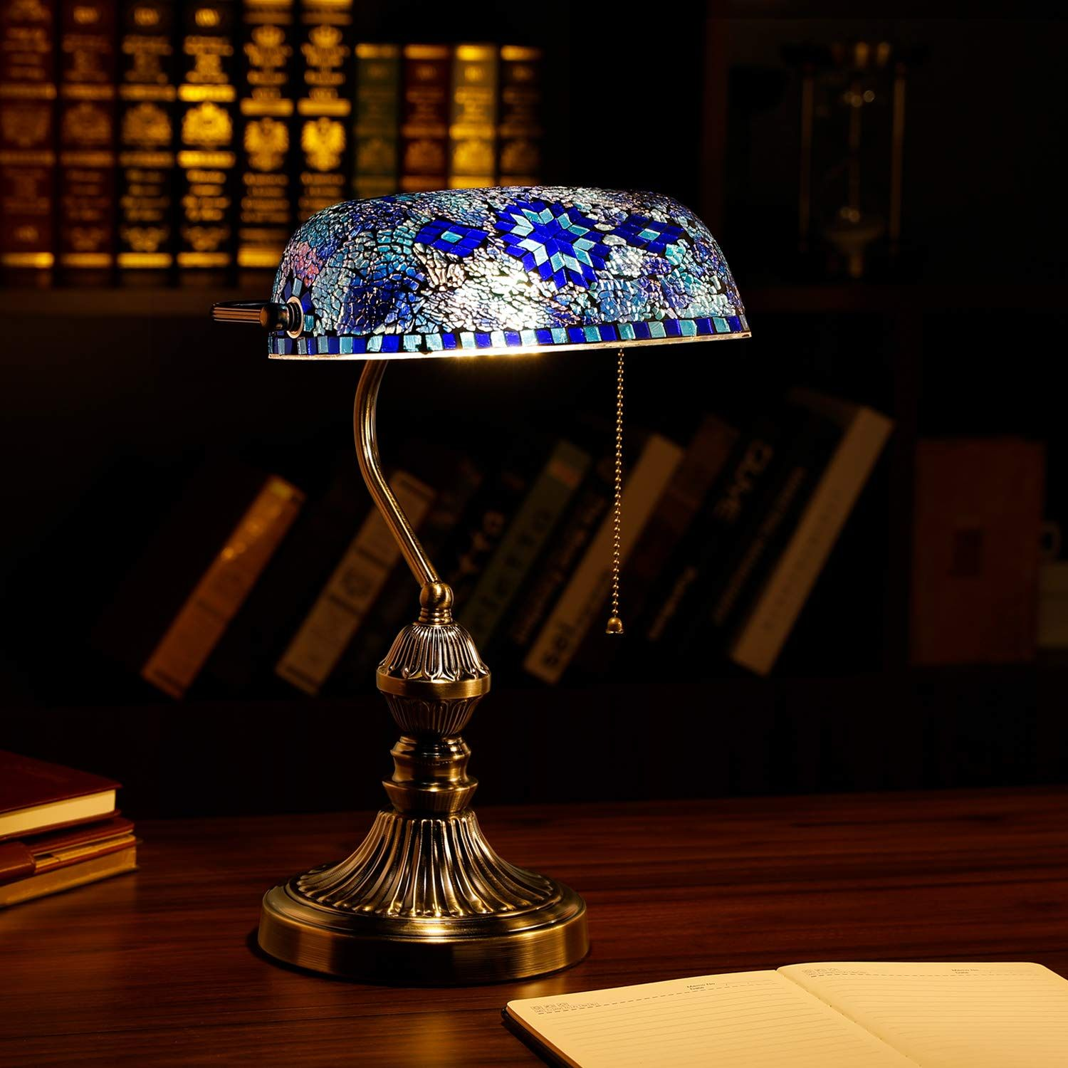Marrakech Mosaic Lamp In 2020 Glass Desk Lamps Mosaic Lamp Vintage Table Lamp