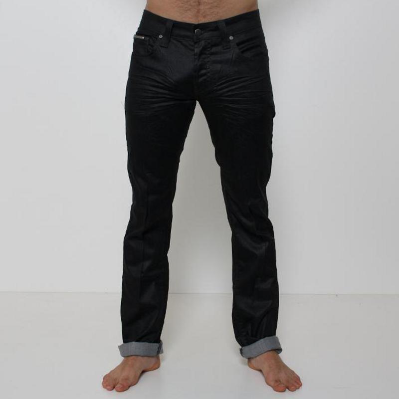 Jeans Absolut Joy - P034662  Jeans Absolut Joy modello 5 tasche, realizzato con una tela jeans nera leggermente lucida, chiusura davanti con bottoni, modello slim. Fondo: 17 cm. Comp.: 91,5% cotone 7,5% polyestere 1% lycra Dettagli: lavare a 30°.
