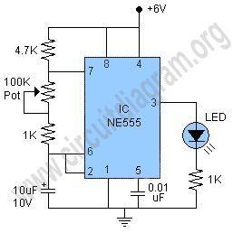 simple 555 led flasher circuit diagram electronics pinterest rh pinterest com LED Flasher Circuit Schematic LED Flasher Circuit Diagram