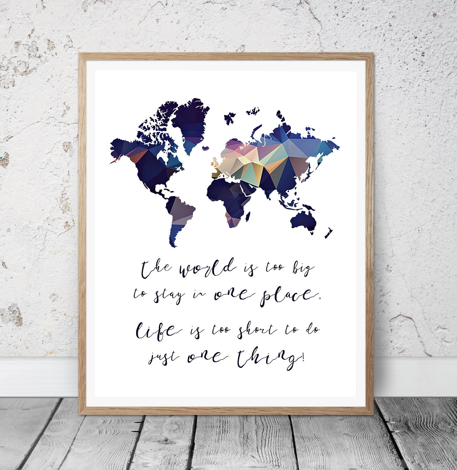 World map printable wall art world map print world map poster world map printable wall art world map print world map poster world is too big to stay in one place world map home decor sciox Image collections