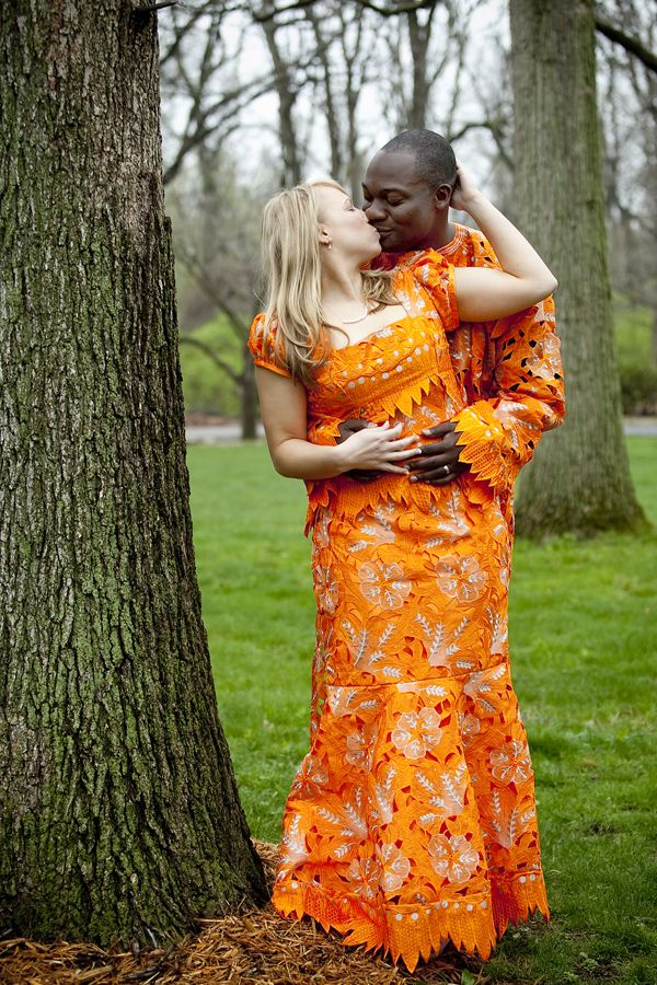 Absolutely Stunning Mixed Couple In Nigerian Lace For -5822