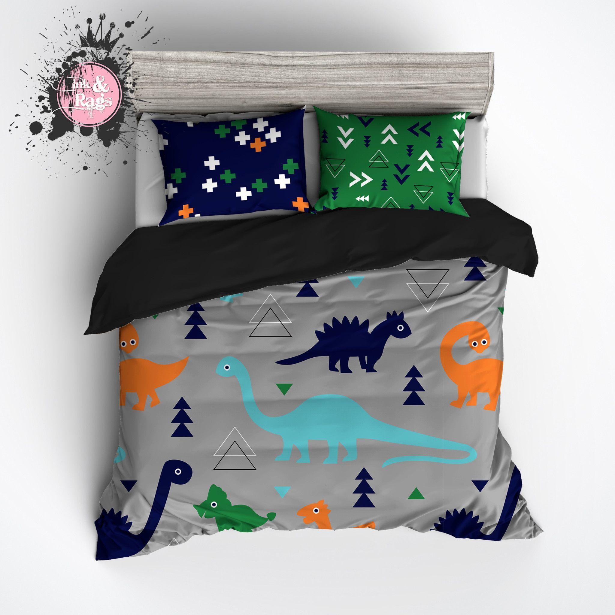 Bgo Geometric Dino Dinosaur Big Kids Bedding Collection Duvet Bedding Sets Duvet Bedding Toddler Bed Boy