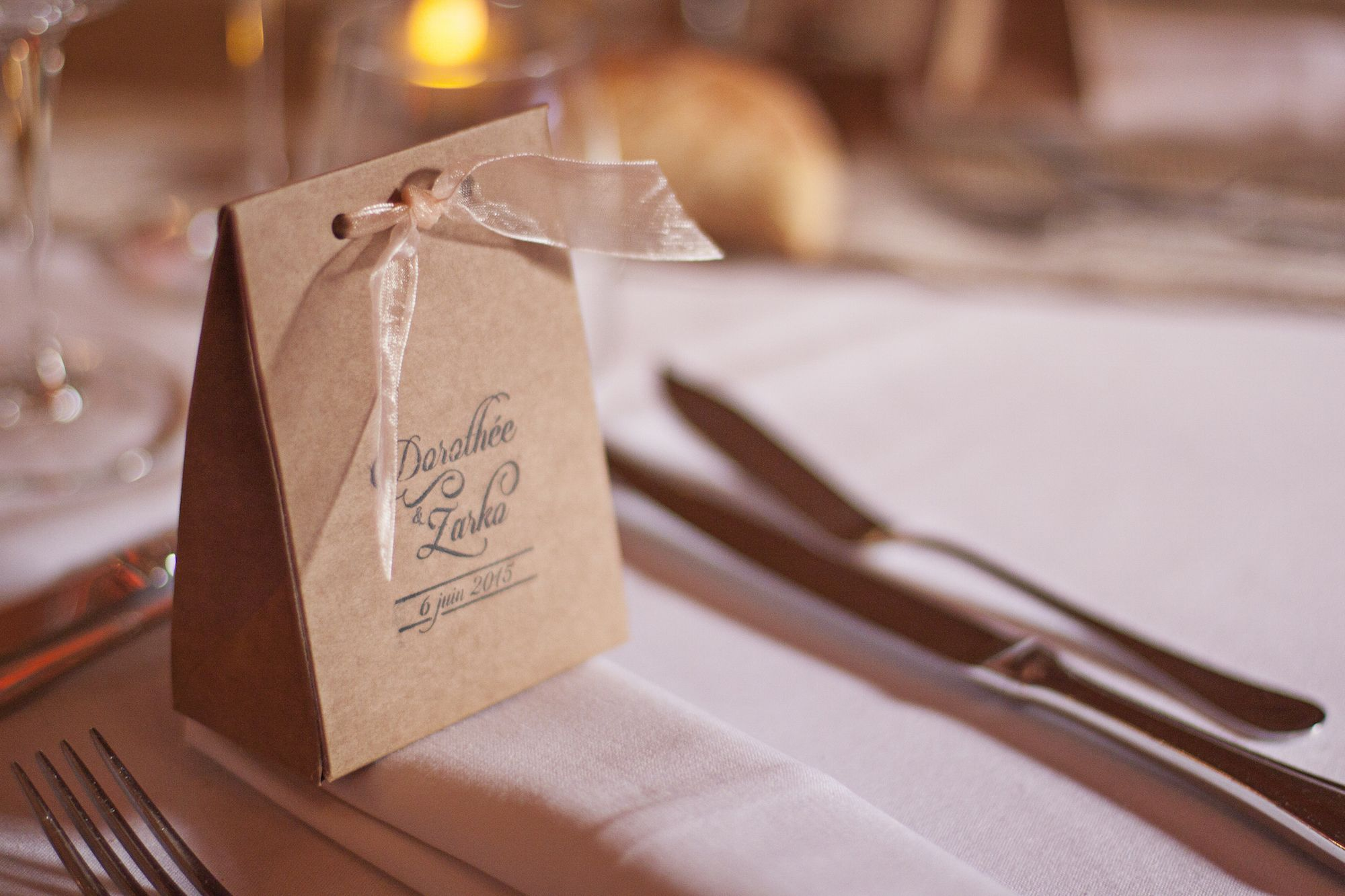 DIY Wedding Favours · Wedding of Dorothée and Zarko in Burgundy, France | Photo by @mariemarrymeinc #mariage #wedding #calligraphy #calligraphie #rustic #champêtre #DIY #handmade #bridal #table #french #bourgogne #satin #cadeau #favour #gift #boheme #shabby #chic #vintage #craft #crafty #love #romantic