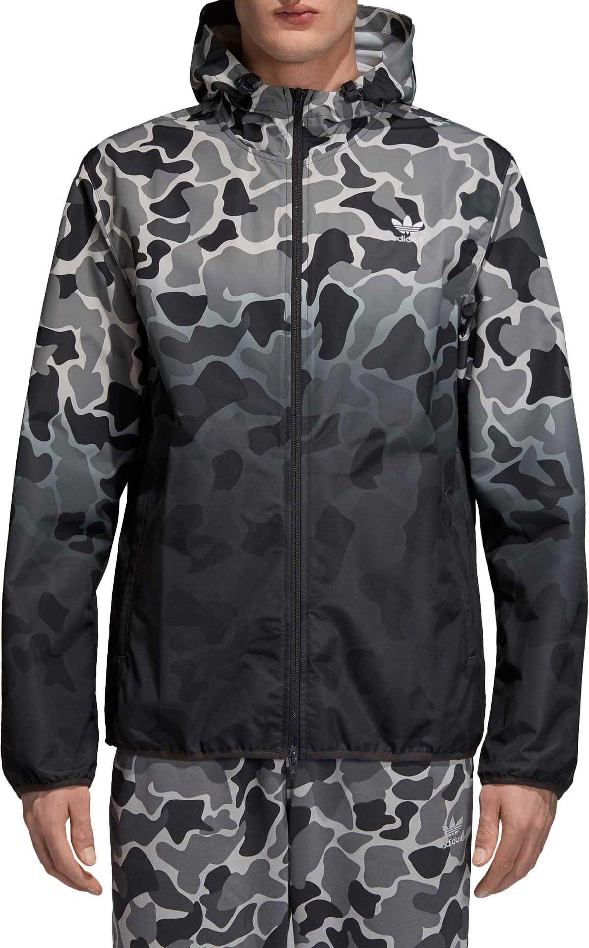 4509e6542b adidas Originals Men s Camo (Green) Dipped Windbreaker Jacket