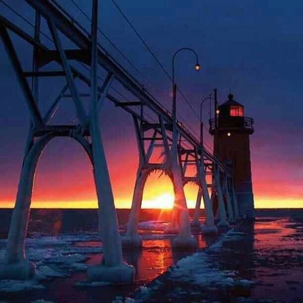 A beautiful South Haven sunset, captured by @lyssacottone. #puremichigan