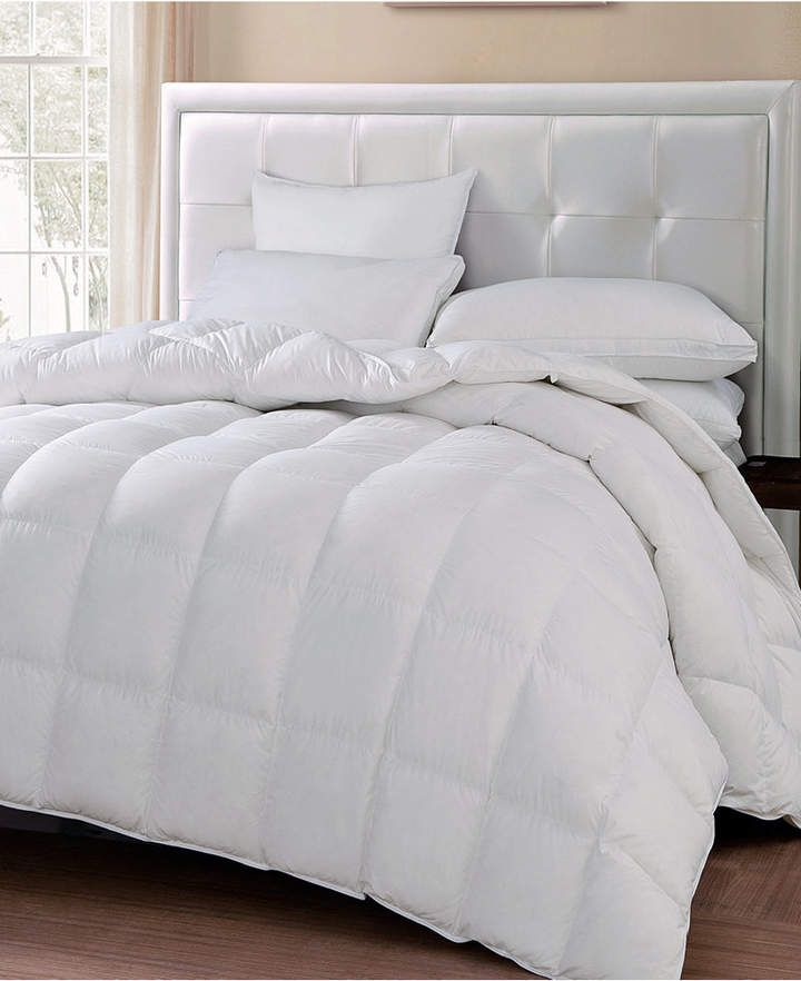 Blue Ridge 240 Thread Count Cotton White Goose Feather Down Medium Warmth King Comforter Products Down Comforter Comforters Twin Comforter