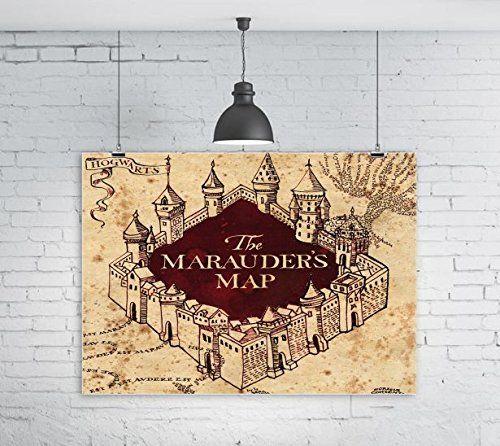 The Marauders Map Hogwarts Castle Design Print Image 16x20 Glossy ...