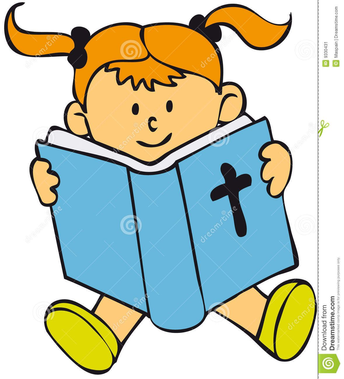 Reading Bible Clip Art Haired Child Reading Sat In