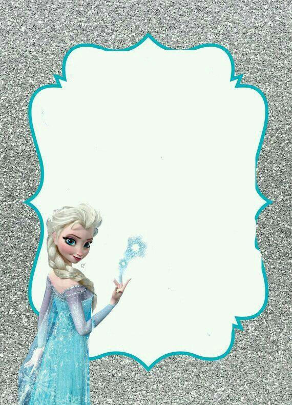 Mis 3 Añitos Valentina Invitaciones De Frozen Tarjetas De