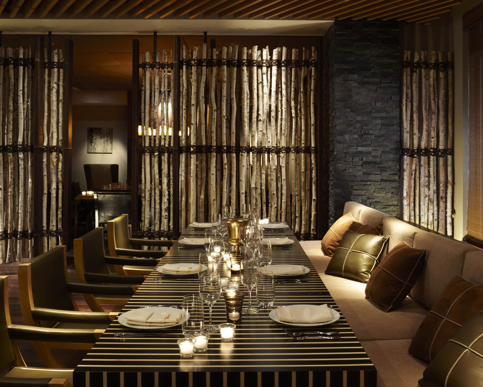 The Intimate Private Dining Room At Viceroy Snowmass Mirrors Outside Mountain Setting
