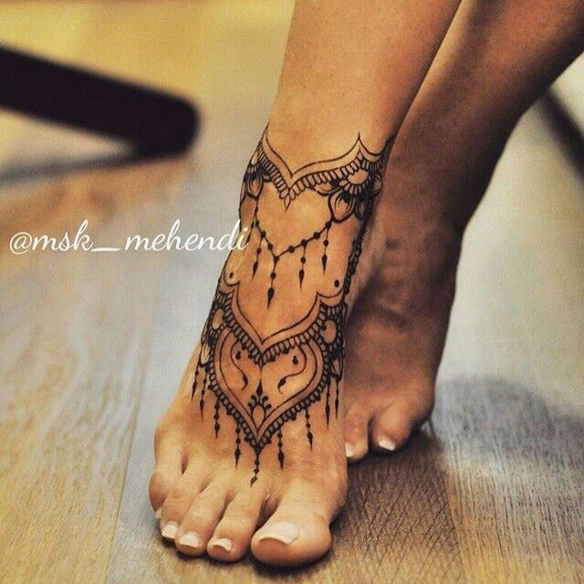 Henna Tattoo Designs Anklet: Pin By Karin Hills On Tattoos