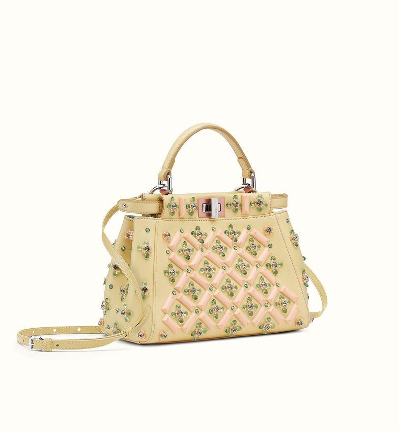 FENDI | MINI PEEKABOO Handbag In Nappa And Rhinestones | #Bag ...