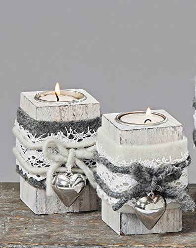 Teelichthalter Jutta 2s H10cm Holzart: lat. Paulowina #weihnachtenholz Teelichthalter Teelicht Herz Holz H 10 cm Weihnachten 2er Set #holzideenweihnachten