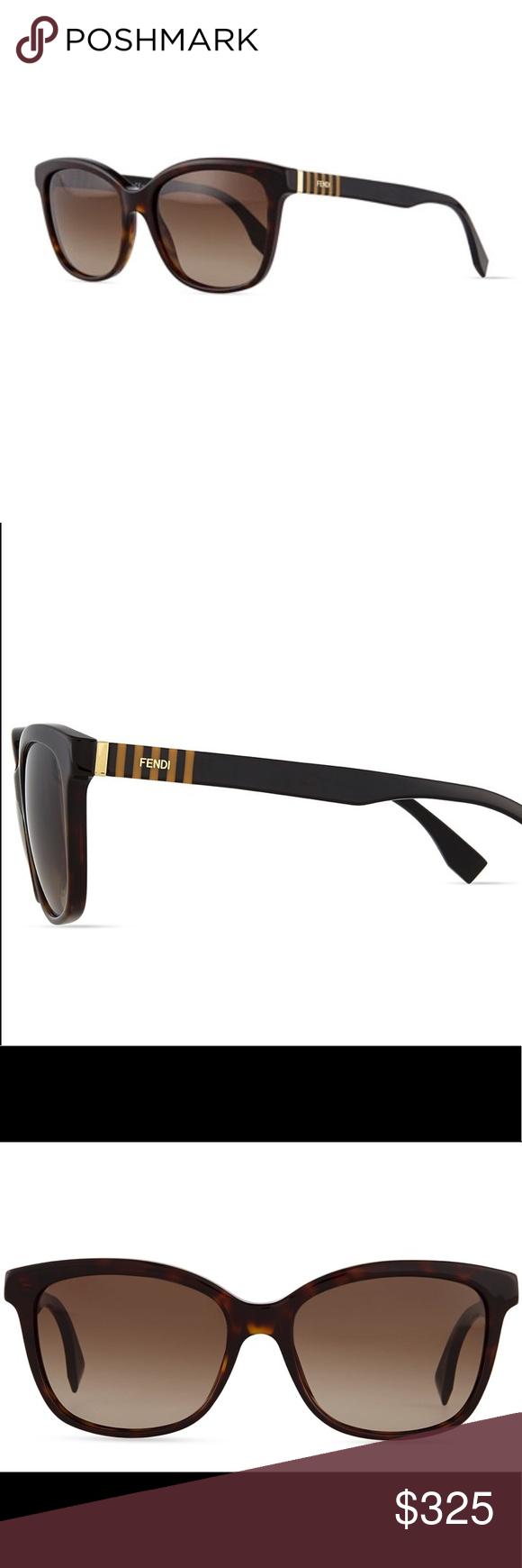 635545fa420 🆕 Fendi Pequin Striped-Temple Sunglasses Authentic Fendi Pequin ...