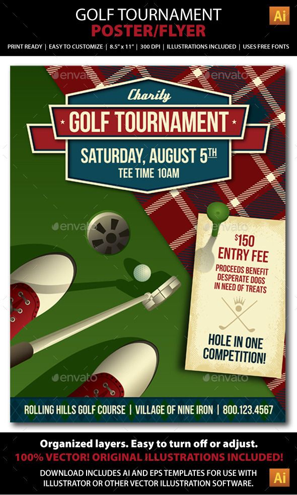 golf tournament    event poster or flyer
