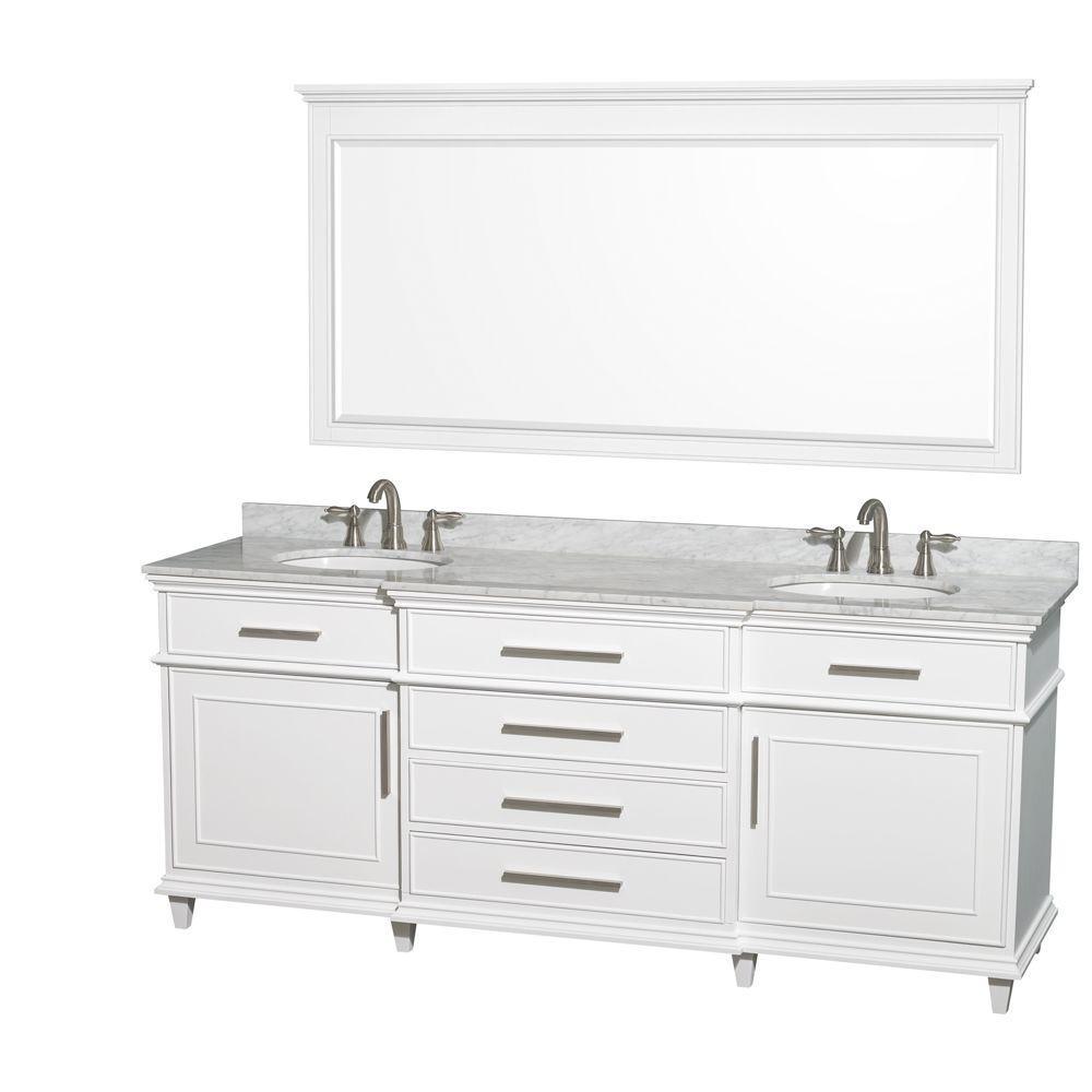 45+ White bathroom cabinet 80 type
