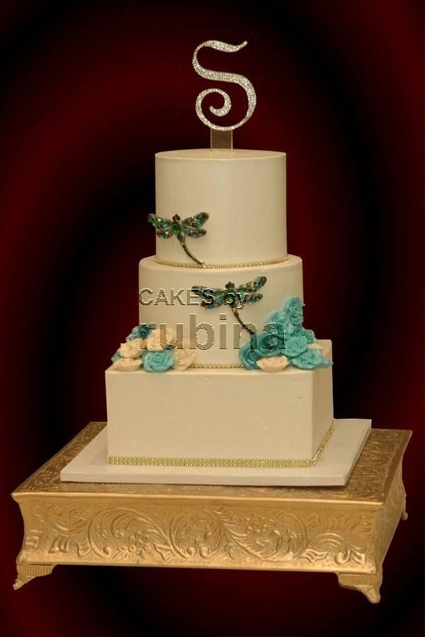 Tiered wedding cake with buttercream | Wedding Cakes | Pinterest ...