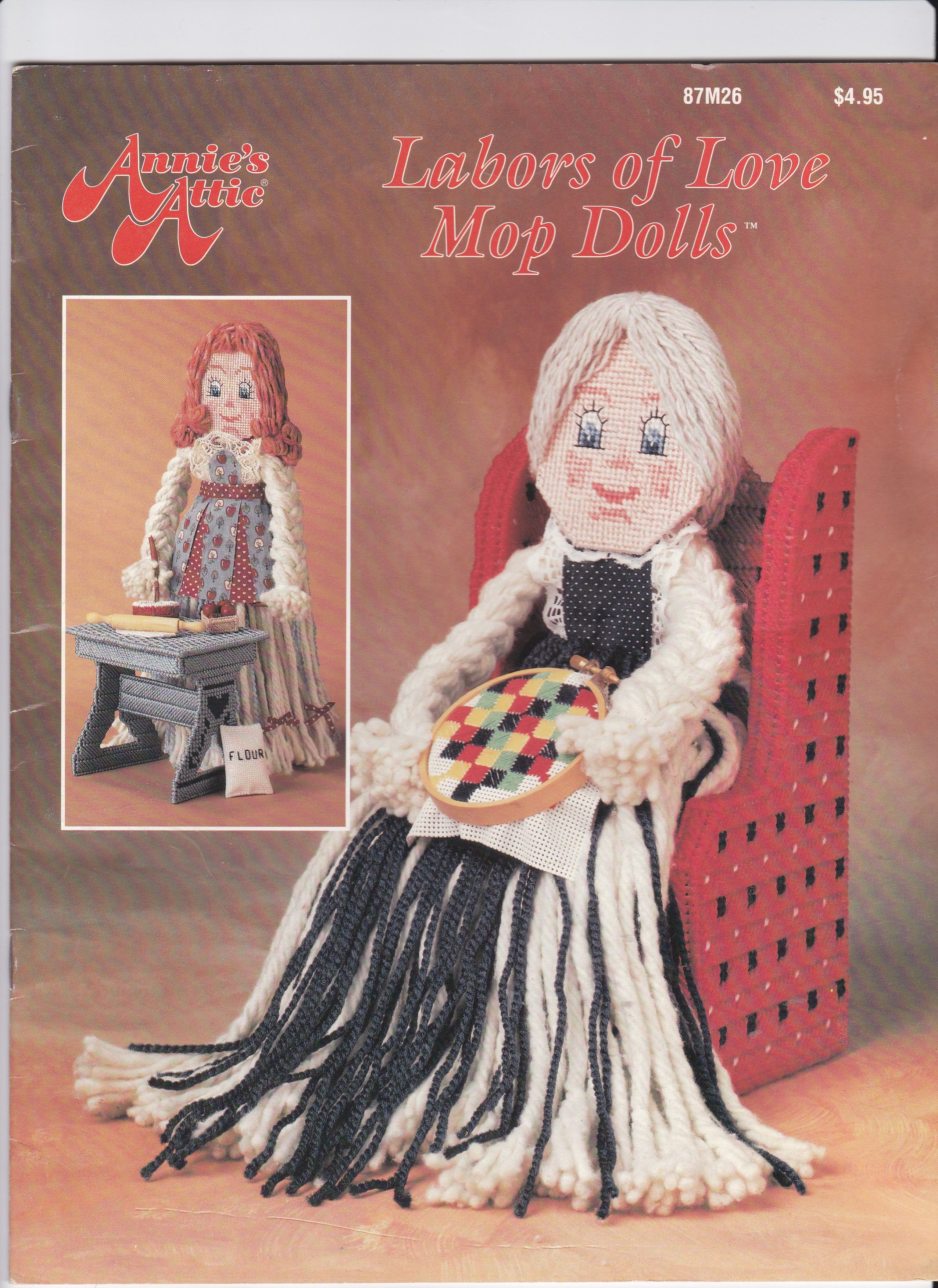 labors of love mop dolls FC | Plastic Canvas Dolls | Pinterest