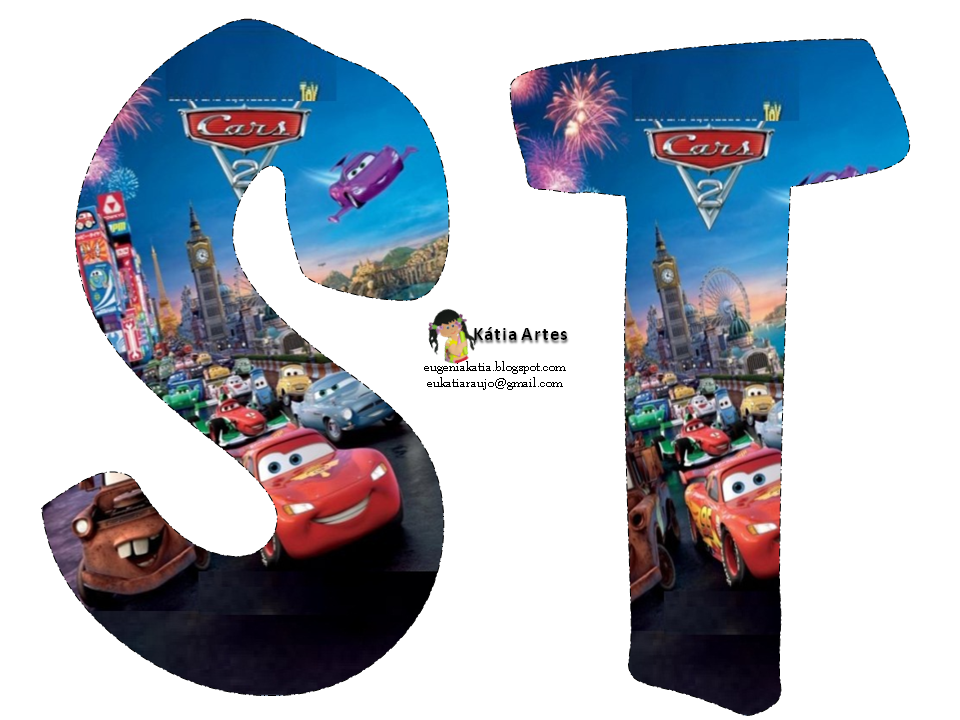 Alfabeto De Cars 2 Oh My Alfabetos Frames In 2019